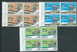 Italia 1967; 50° Giro Ciclistico D' Italia. Serie Completa In Quartine Di Bordo Sinistro. - 6. 1946-.. Republik
