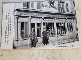 45 - CPA Animée, Rare, Commerce ORLEANS - Etablissements L. TOURNOIS, 6 Rue De Bourgogne (L. Lenormand) - Orleans
