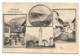 CARTOLINA DI CASTANEDA ( VALLE CALANCA ) GRIGIONI , 1909 . - GR Grisons