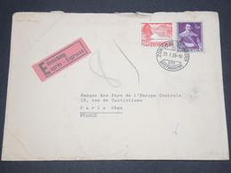 SUISSE - Enveloppe De Zurich En Exprès Pour La France En 1955 - L 12910 - Covers & Documents