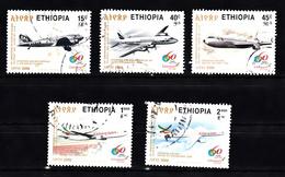 Ethiopie 2006 Mi Nr  1839 - 1843 , Airplane, Douplas + Boeing - Äthiopien