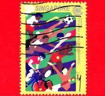 SINGAPORE - Usato -  2001 - Sport - Giorno Del Commowealth - $ 1 - Singapore (1959-...)