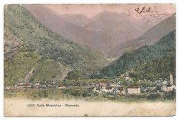 CARTOLINA DI VALLE MESOLCINA - ROVEREDO , 1906 . - GR Grisons
