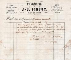 1859 - VIENNE (38) - PHARMACIE De J-J. GINJOT - Place Du Musée - - Documenti Storici
