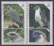 Brasilien Brasil 2014 Tiere Fauna Animals Vögel Birds Oiseaux Pájaro Uccelli Adler Eagle Bussard Buzzard, Mi. 4164-5 ** - Brasilien
