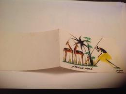 Carte Joyeux Noël Afrique Signé - Zèbres
