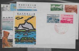 Sobres De Japón Matasello Primer Día (First Day Cover) Nº Yvert 731/32, 733/34, 740/41 Y 750/51. - Used Stamps