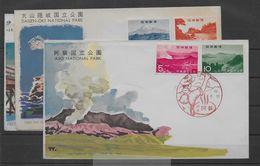 Sobres De Japón Matasello Primer Día (First Day Cover) Nº Yvert 768/69, 803/04 Y 792/93. - Used Stamps