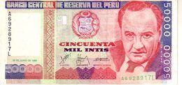 Peru P.142  50000 Intis 1988 Unc - Perù