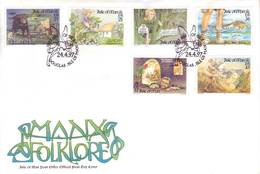 Man 1997 - FDC Storie E Leggende Con Europa CEPT, 6v - Isola Di Man