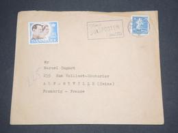 DANEMARK - Enveloppe De Copenhague Pour La France En 1937 Avec Vignette Royale - L 12924 - 1913-47 (Christian X)