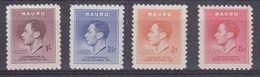 Nauru 1937 Coronation Of King George VI 4v ** Mnh (37459A) - Nauru
