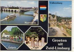 GROETEN UIT ZID LIMBURG MUTLI VIEW MAASTRICHT VALKENBURG GULPEN VAALS  NICE STAMP - Nederland
