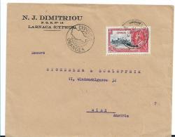 Cyp100 / ZYPERN -  Larnaca 1935 Nach Wien - Chipre (...-1960)