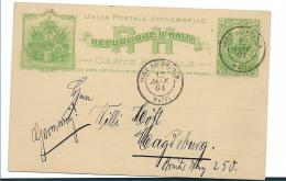 Hai042 -   HAITI/ Aschr Nr.3, 1901 Nach Magdeburg, Deutschland - Haiti