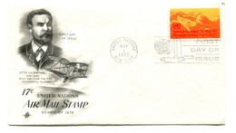 1972 United Nations Air Mail 17c FDC - New York – UN Headquarters