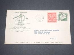 CUBA - Enveloppe Commerciale Illustrée De La Havane Pour New York En 1945 - L 12926 - Cuba