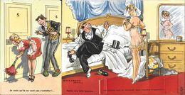CPSM/pf. Carte à Systhème érotique. Illustrateur J. Chaperon. Jolie Femme En Nuisette, Double Volet...B406 - Cartoline Con Meccanismi