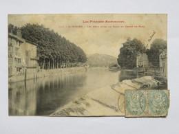 C.P.A. 09 SAINT-GIRONS : Les Deux Rives Du Salat Et Champ De Mars, En 1906 - Saint Girons