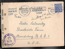 Germany1946:Michel934 Cover With BritishCensorship Cancel - Gemeinschaftsausgaben