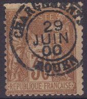 """Rouen (Seine Maritime) : Càd 15 """"Chargements"""" Sur Sage N°80. - 1876-1898 Sage (Type II)"""