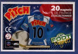 FOOT Magnet Pitch 10 Coupe De France, Maillot De Grenoble 2010 - Sport