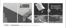 M-P MARQUE-PAGE MARQUE-PAGES  L'HORIZON ALTERNATIF TEMPETES DE FABLES EDIT. DELCOURT - Ex-libris