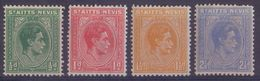 St.KITTS-NEVIS :1938-43: Y.93-99 Dentelled/neufs/MNH :  ## GEORG VI ## : STAMP Of STAMP,POST,MAIL,COMMUNICATION, - St.Christopher-Nevis-Anguilla (...-1980)