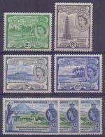 St.CHRISTOPHER*NEVIS*ANGUILLA :1954-57: Y.136,139-41,149(3x)  Dentelled/avec Légère Trace De Charnière/ Lightly Hinged - St.Christopher-Nevis-Anguilla (...-1980)