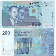 Morocco - 200 Dirhams 2002 AUNC Lemberg-Zp - Maroc