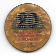 Ancien Jeton De Casino De 20 Francs Société Des Bains De Mer De Monte Carlo - Monaco (ficha) - Casino