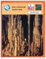 Une Cathédrale Souterraine   Spéléologie  Sport Fiche Illustree Cousteau  N° R1 1472 - Fiches Illustrées