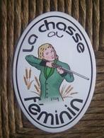 Y8---autocollant---chasse Gibier D Eau--feminin - Stickers