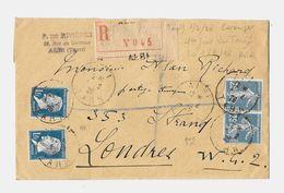 81 – TARN « ALBI » LRE 1er Ech. - 20gr. - Tarif « GDE BRETAGNE » à 2F50 - Storia Postale