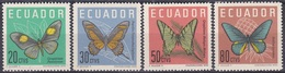 Ecuador 1961 Tiere Fauna Animals Schmetterlinge Butterflies Insekten Insects Papillon Mariposa Farfalle, Mi. 1070-3 ** - Ecuador