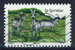 """France, French Goat Breed, """"la Lorraine"""", 2015, VFU Self-adhesive - Used Stamps"""