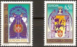 Bosnia Bosna Bosnie-Herzégovine  Serbe 1997 Yvertn° 69-70  *** MNH Cote 15,00 Euro Europa - Europa-CEPT