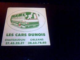 Autocollant Autocars Dunois Chateaudun Orleans - Pegatinas