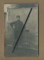 Carte Photo Militaire Rétrécit  -(correspondance :Souvenir De Mes Classes à Pontivy Le 7 Février 1915 ) - Pontivy