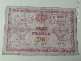 2 Francs  Rouen 1915 - Chamber Of Commerce
