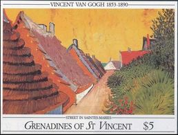 SAINT-VINCENT Grenadines Bloc 43 ** MNH Tableau Peintre Painter Mahler Van Gogh : Rue De Saintes-Maries - Arts