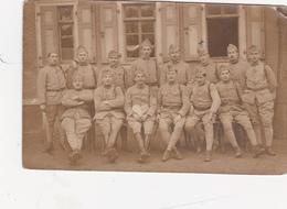 CPA-PHOTO Carte-Photo Prusse Rhénane 1919 -  7° Pièce - 58° R.A.C. - 5° Batterie - Militaire Soldats Militaria (2 Scans) - Regiments