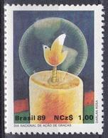 Brasilien Brasil 1989 Brauchtum Erntedankfest Thanksgiving Kerze Candle Friedenstaube Taube Dove, Mi. 2334 ** - Brasilien