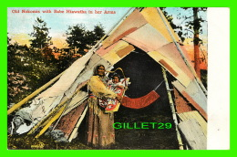 INDIENS -  OLD NOKOMIS WITH BABE HIAWATHA IN HER ARMS - ANIMATED -  PUB. BY VALENTINE & SONS LTD - - Indiens De L'Amerique Du Nord
