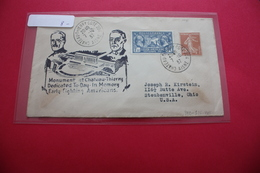 1937 Chateau Thierry Cote 204 Aisne USA WW1 Soldiers  Memorial - Marcophilie (Lettres)