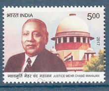 INDIA 2017 Justice Mehr Chand Mahajan, 1v,  Celebrity,  MNH(**) - Inde