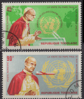 TOGO - Visite De Paul VI Aux Nations Unies Poste Aérienne Oblitéré - Togo (1960-...)