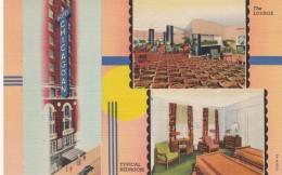 Hotel Chicagoan, Chicago Illinois Hotel, Lounge & Bedroom Interior Views, C1930s Vintage Curteich Linen Postcard - Hotels & Restaurants