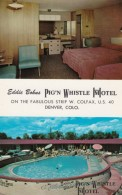 Pig N Whistle Hotel/Motel, Denver Colorado, Bedroom Interior Views, C1950s/60s Vintage Postcard - Hotels & Restaurants