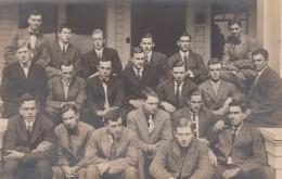 Eugene Oregon, University Of Oregon, Group Of Men, Fraternity(?), C1910s Vintage Real Photo Postcard - Eugene
